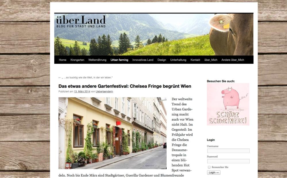 über_Land bloggt zur Chelsea Fringe